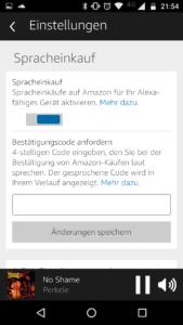 Amazon Alexa Spracheinstellungen