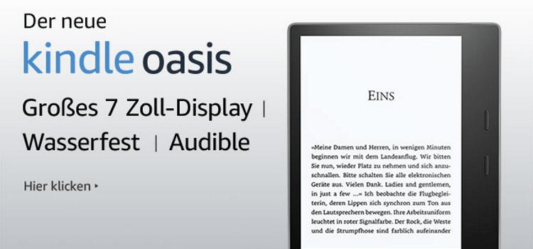 Kindle Oasis mit Unterstützung von Audible
