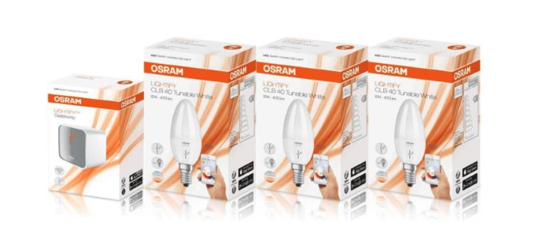 3x Osram Lightify E14 inklusive Gateway für 38,99 Euro
