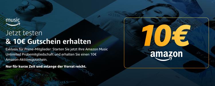 Music Unlimited testen und 10,- Euro Gutschein erhalten