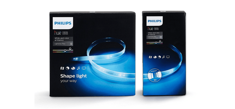 philips hue lightstrip und erweiterung im angebot. Black Bedroom Furniture Sets. Home Design Ideas