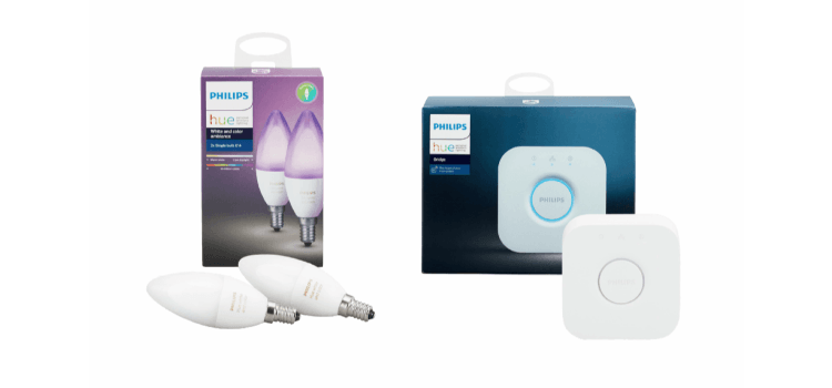 Philips Hue E14 White and Color Starterset für 89,- Euro