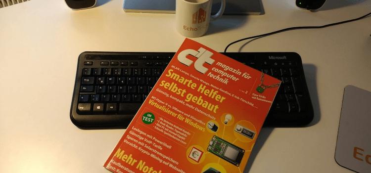 Anzeige: c't-Magazin mit vielen Smart Home-Themen testen