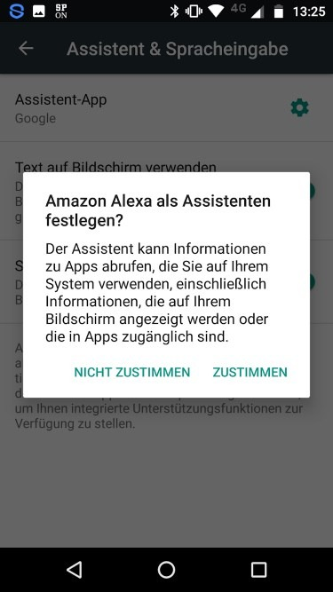 Sprachassistent Android