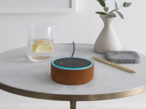 Amazon Echo Dot-Hülle naturleder