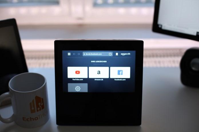 Startseite des Silk-Browser auf dem Echo Show
