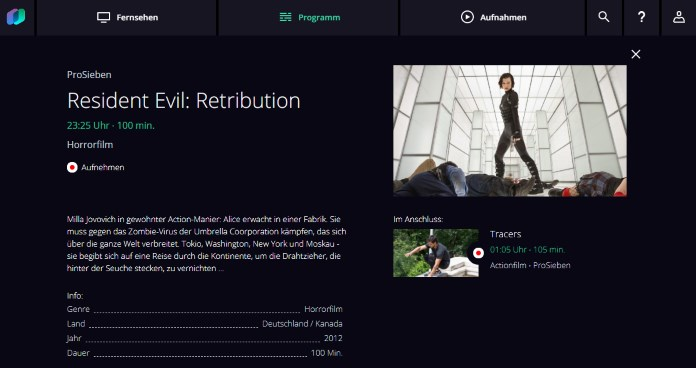 waipu.tv Sendungsdetails