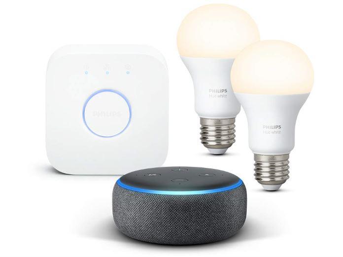 Philips Hue White Starterset und Echo Dot